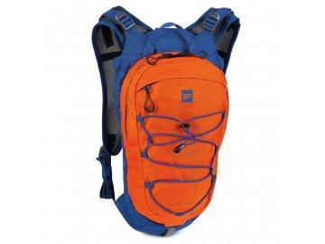 cyklistický a běžecký batoh modro oranžový 1