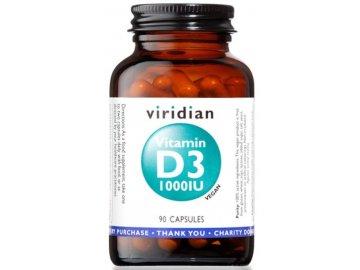viridian vitamin d3 1000iu 90 kapslí