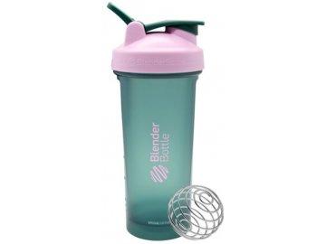 šejkr blender bottle zeleno růžový
