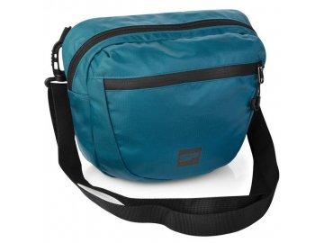 taška přes rameno croco modrá 11