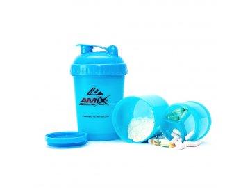 Šejkr Amix Monster Bottle - modrý