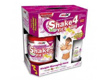 Amix Shake 4 Fit & Slim 1000 g + spalovač Carniline 480 ml