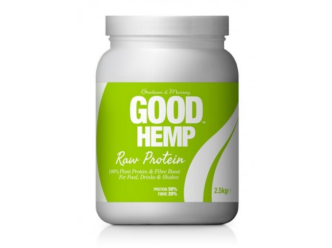 Good Hemp Protein Natural RAW 2,5kg  + ŠEJKR ZDARMA