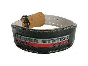 Opasek Power System černý kožený PS 3100