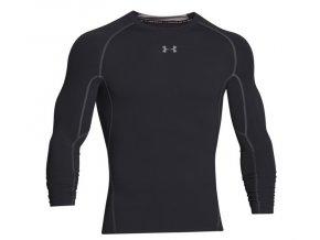 kompresní triko dlouhý rukáv under armour černé 1