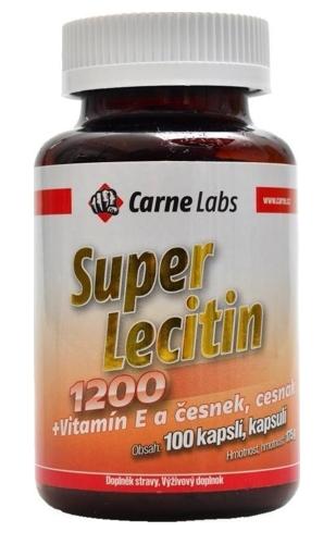 Super Lecitin 1200 + vitamín E + česnek 100 kapslí