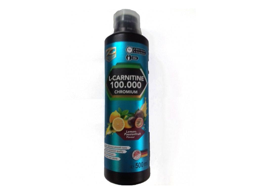 Z-KONZEPT NUTRITION L-CARNITINE 100000 CHROMIUM 0,5l CITRÓN S MARAKUJOU