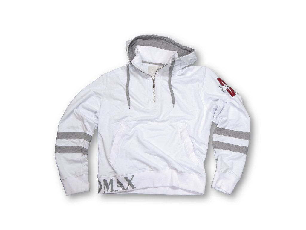 MADMAX mikina Double Stripe Sweatshirt white