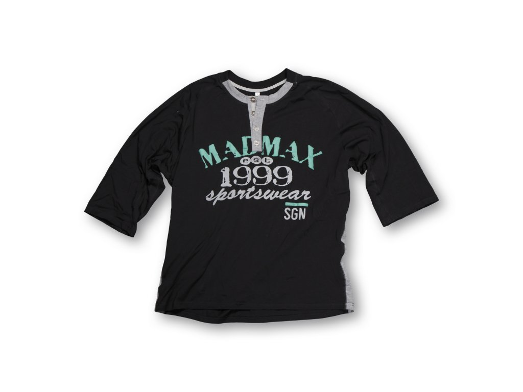 MADMAX triko 1999 Cut Sleeves Tee Black