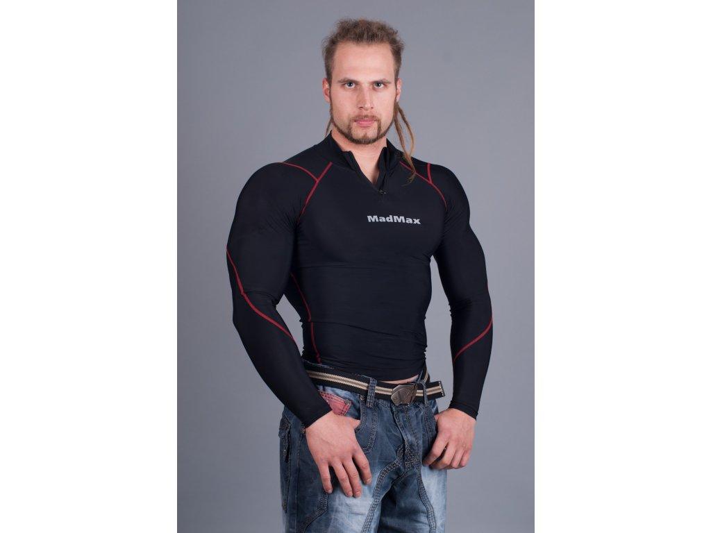 MADMAX Compresswear dlouhý rukáv/zip červené