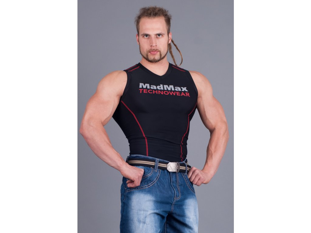 MADMAX Compresswear tílko červené