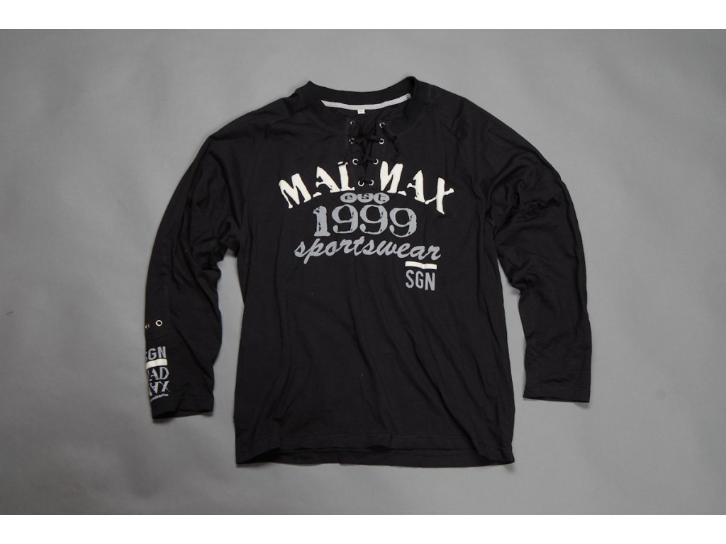 MADMAX triko 1999 Long Sleeves Tee Black