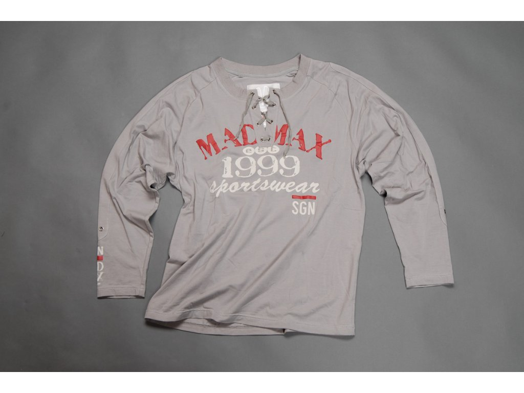 MADMAX triko 1999 Long Sleeves Tee Grey