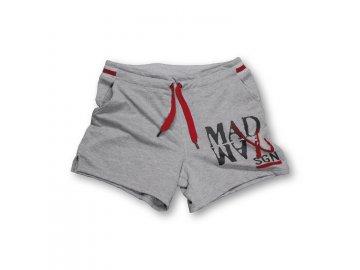 MADMAX kraťasy Rib Shorts šedé