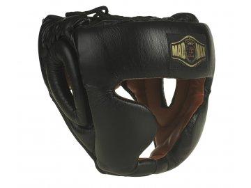 MADMAX boxerská helma celokožená