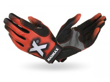 MADMAX X Gloves Red crossfitové rukavice