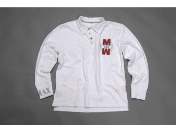MADMAX Polo Long Sleeve White