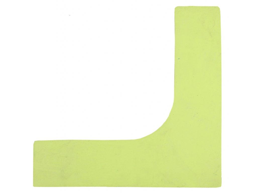 značka na podlahu roh
