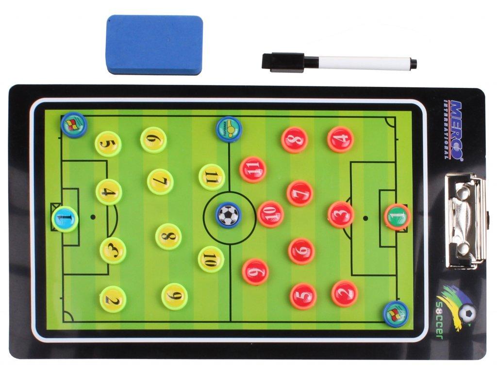 Fotbal 64 magnetická trenerská tabuľa, s klipom