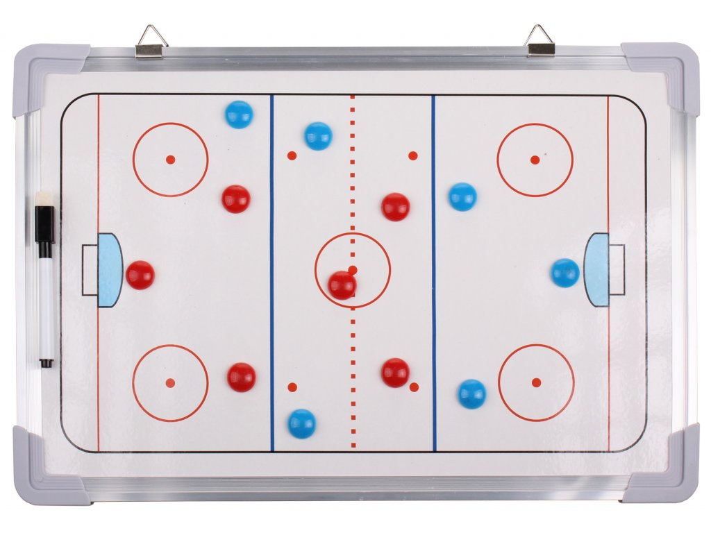 Hokej 43 magnetická trenerská tabuľa, závesná