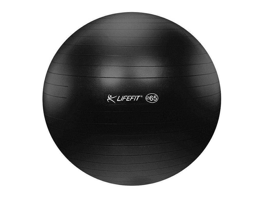 Gymnastická lopta LIFEFIT ANTI-BURST 65 cm, čierna