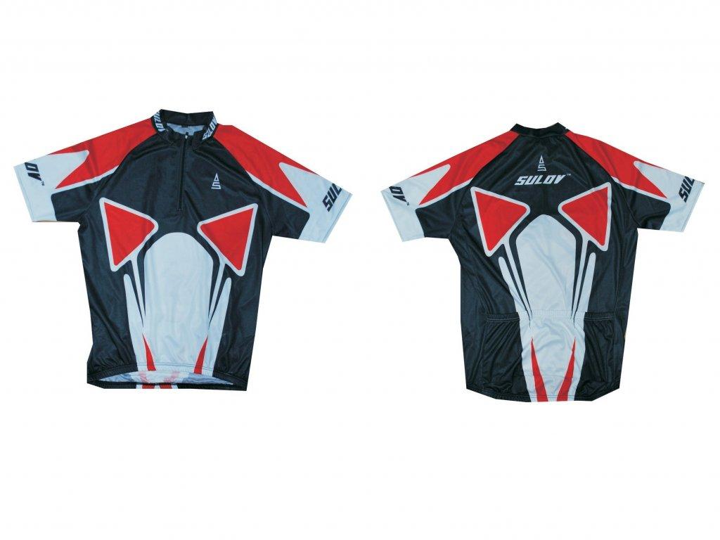 Cyklistický dres SULOV 2, červený