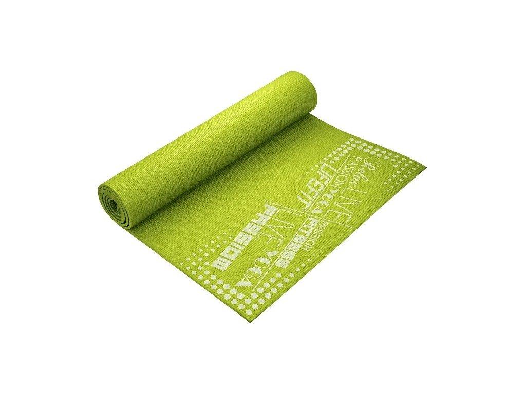 Gymnastická podložka LIFEFIT SLIMFIT PLUS, 173x58x0,6cm, svetlo zelená
