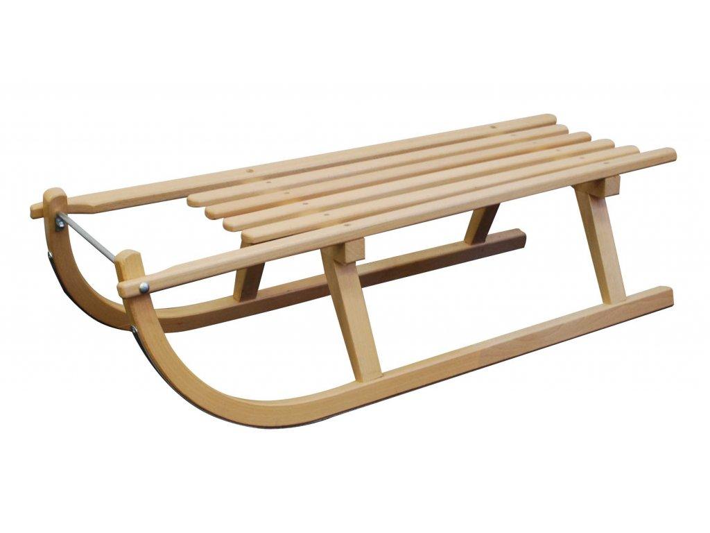 Drevené sane SULOV DAVOS, sedák drevo, 100cm
