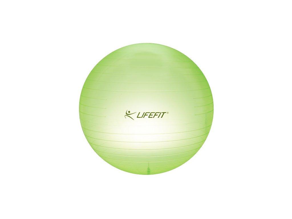 Gymnastická lopta TRANSPARENT,75cm,sv.zelena