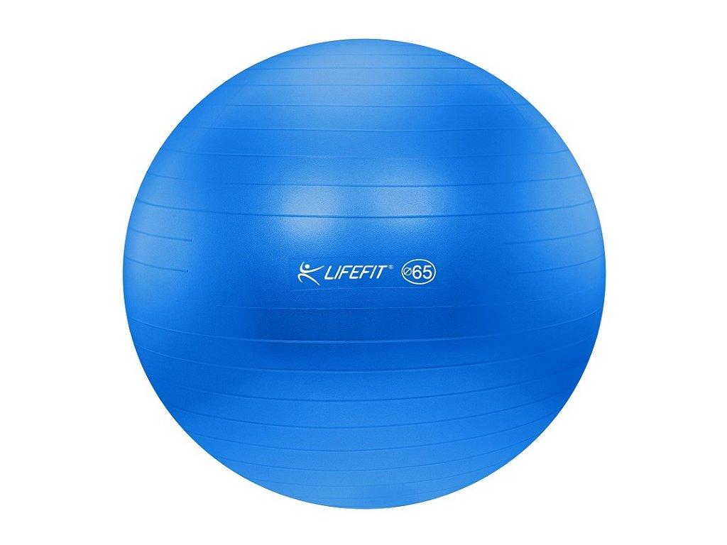 Gymnastická lopta LIFEFIT ANTI-BURST,65cm,modra