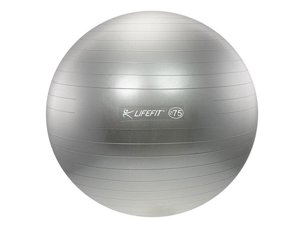 Gymnastická lopta LIFEFIT ANTI-BURST,75cm,strieborna