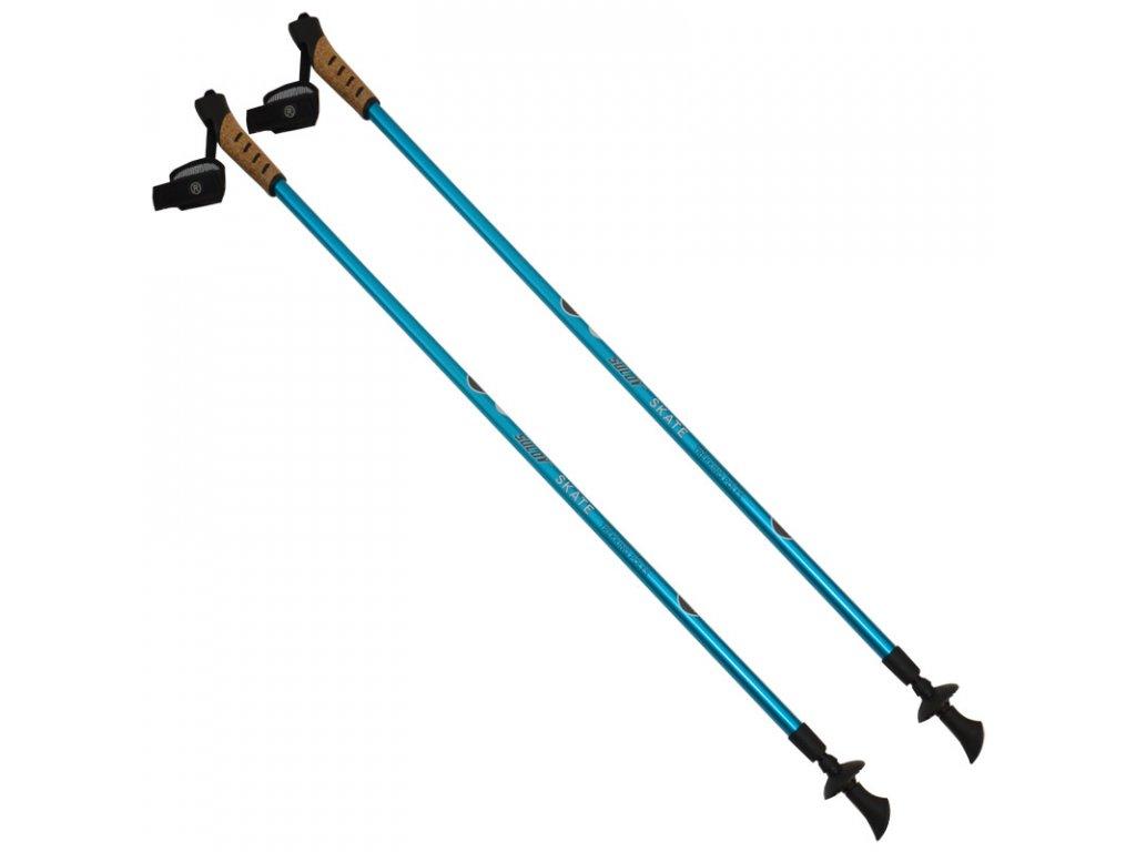 Skatingové palice SULOV SKATE, 2-dielne, pár, modrá