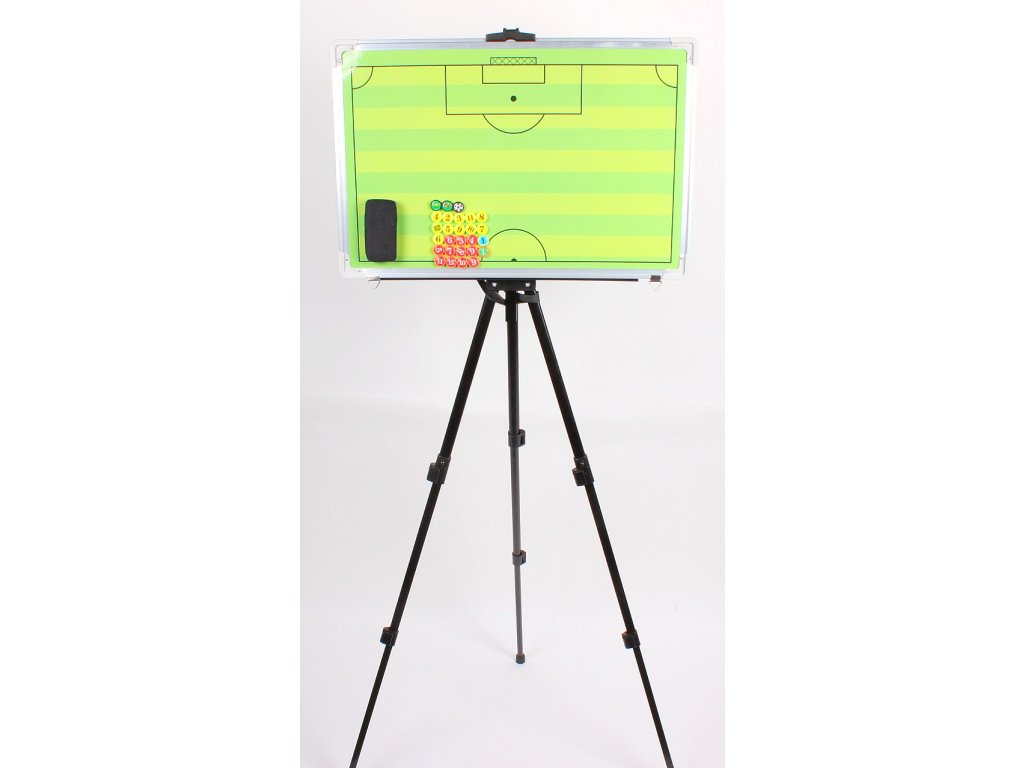 Futbal 45 magnetická trenerská tabuľa, so stojanom