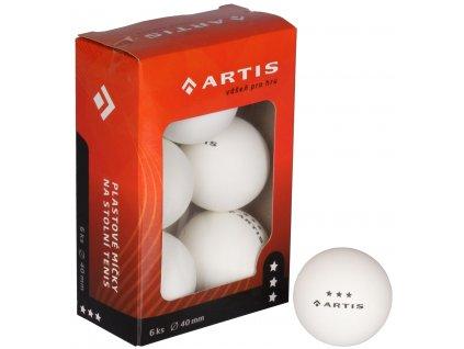 Artis 3 hviezdy loptičky na stolný tenis