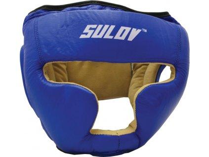 Box chránič hlavy uzavrený SULOV kožený - modrý