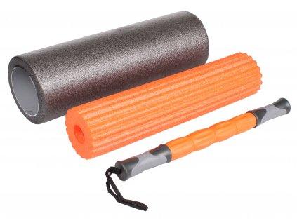 LiveUp Yoga Roller set set joga 45x16,5cm