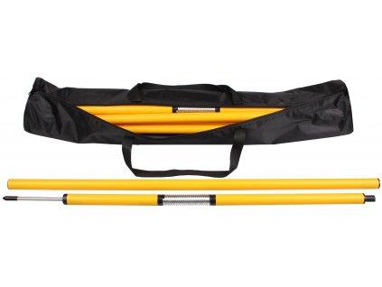 8x tyč slalomová s bodcom                                              džka 160 cm, vrátane tašky