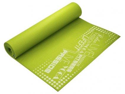 Gymnastická podložka LIFEFIT SLIMFIT PLUS, 173x61x0,6cm, svetlo zelená
