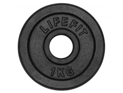 Kotúč LIFEFIT 1,0kg, kovový, pre 30mm tyč