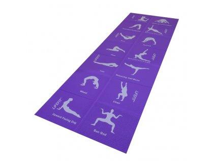 Podložka LIFEFIT YOGA MAT FOLD, 173x61x0,4cm, skladacia, fialová