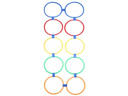 Agility Circles proskakovací obruče, nastaviteľné