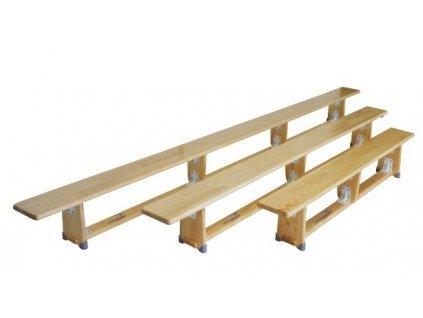 Gymnastická lavička drevená 2 m