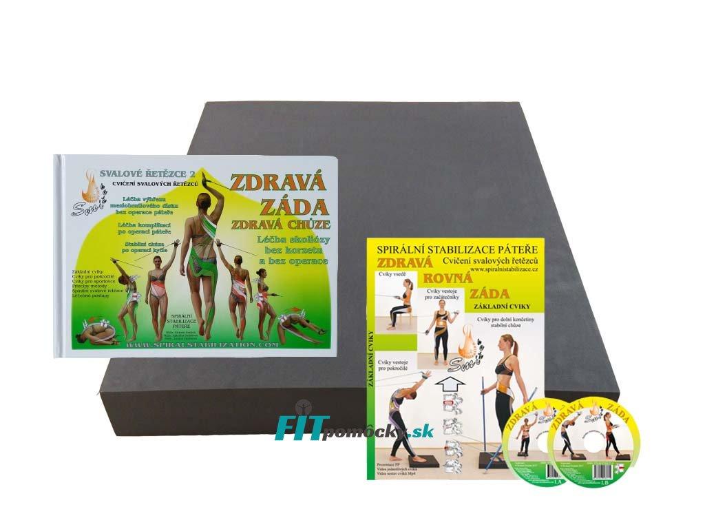 set podlozka +kniha zdrava zada+DVD11cvikov bez loga