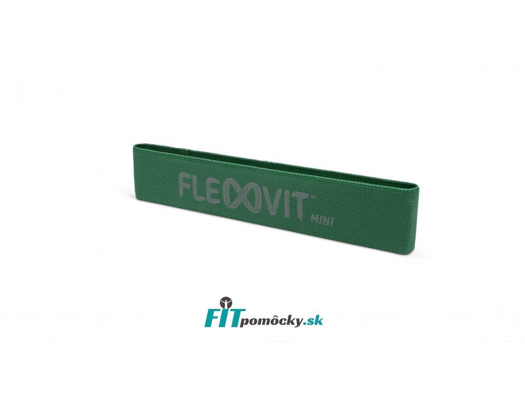FLEXVIT Mini Band ATHLETIC zelená - pevný odpor