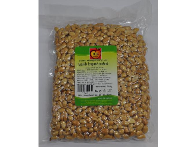 Arašídy loupané pražené vakuované (Velikost 500 g - EXPIRACE 3/2017!!!)