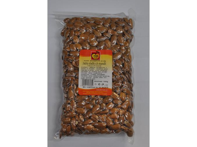 Jádra sladkých mandlí vakuovaná (přírodní) (Velikost 500 g)
