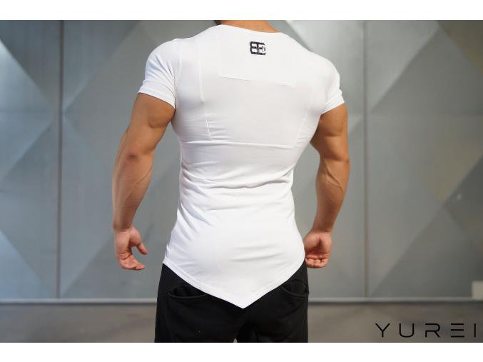 Body Engineers Yurei triko s asymetrickým V střihem - Bílá (Velikost XXL)