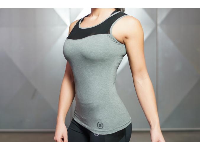 Body Engineers EOS top - Tmavě šedá (Velikost xs)