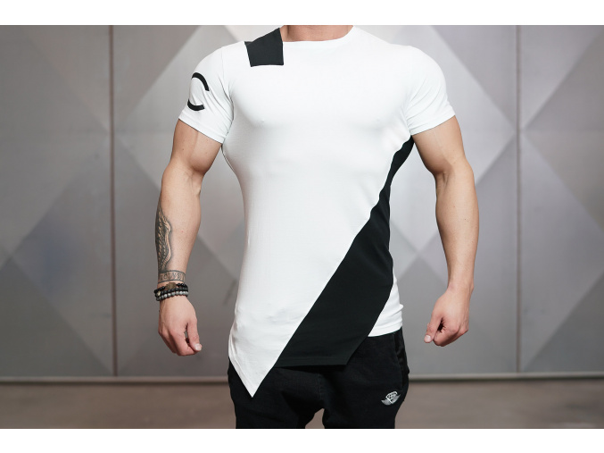 Body Engineers DC CUE triko - Bílá/černá (Velikost XXL)