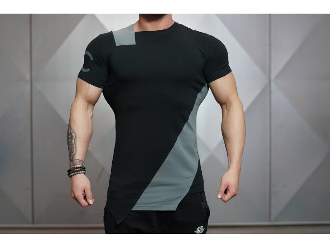 Body Engineers DC CUE triko - Černá/šedá (Velikost XXL)